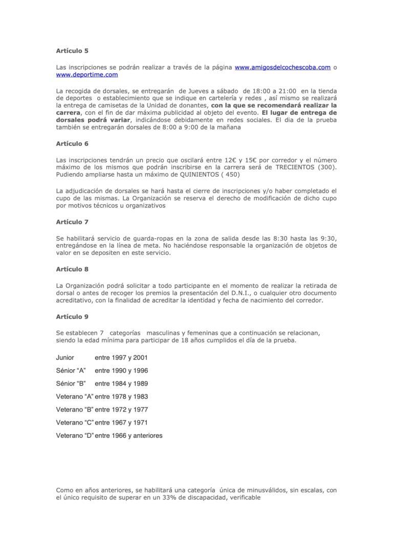 Reglamento Subida Ermitas 2021 - 2