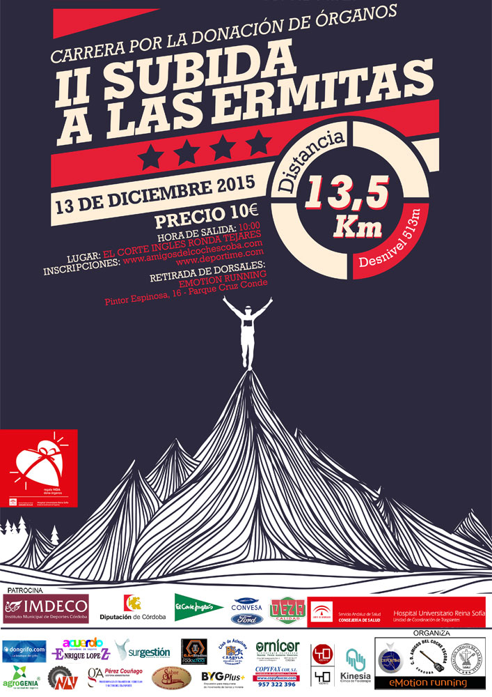 Cartel carrera Ermitas 2015