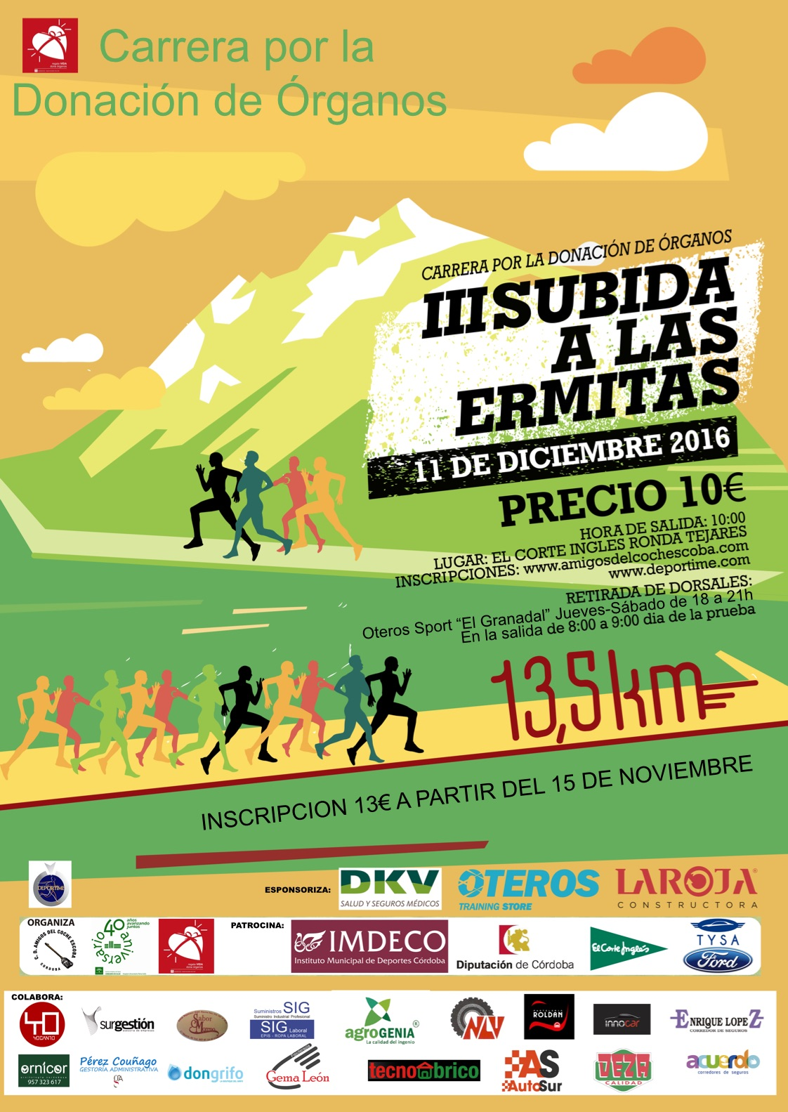 Cartel carrera Ermitas 2016