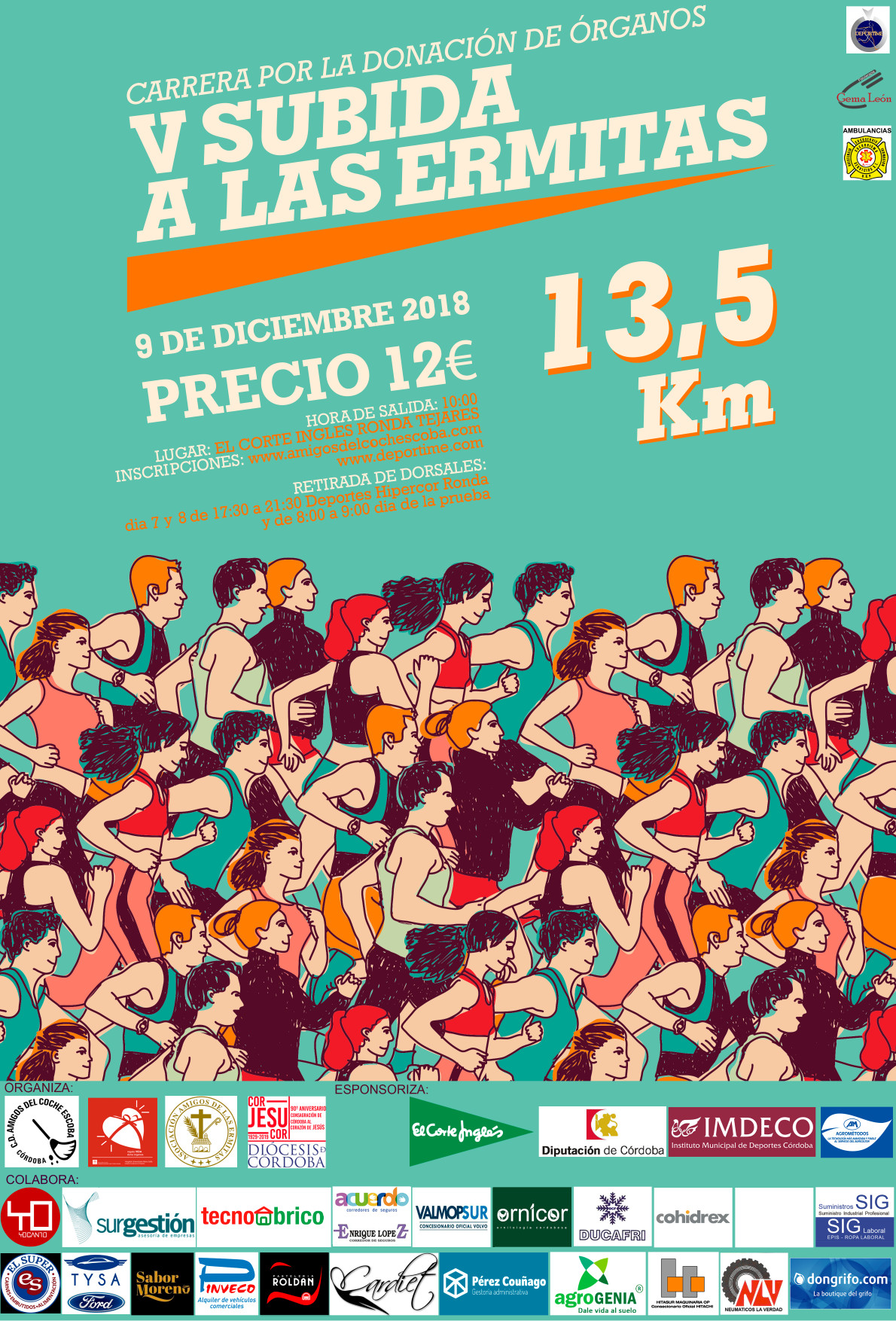 Cartel carrera Ermitas 2018